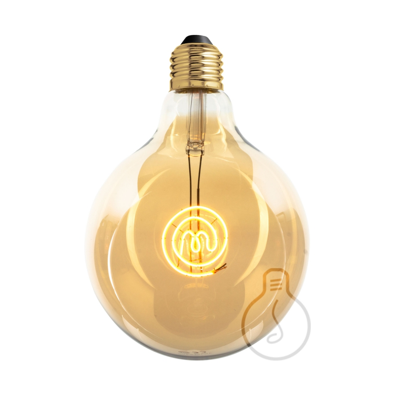 LED Light Bulb Globe G125 Masterchef line Logo Filament 4W E27 Dimmable 2000K
