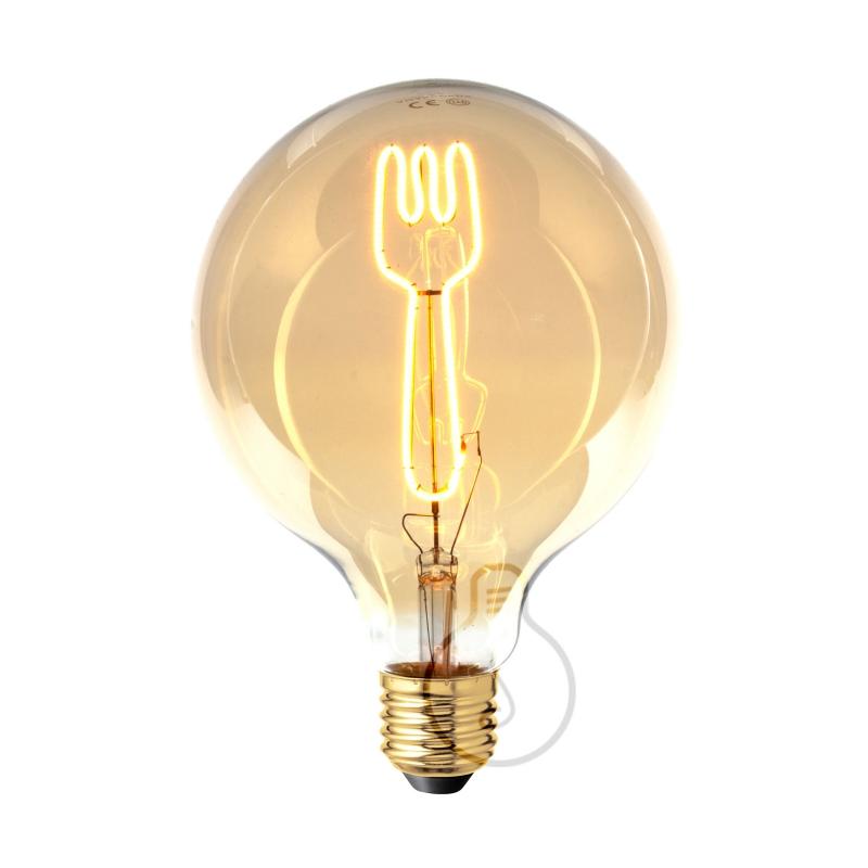 LED Light Bulb Globe G125 Masterchef line Fork Filament 4W E27 Dimmable 2000K