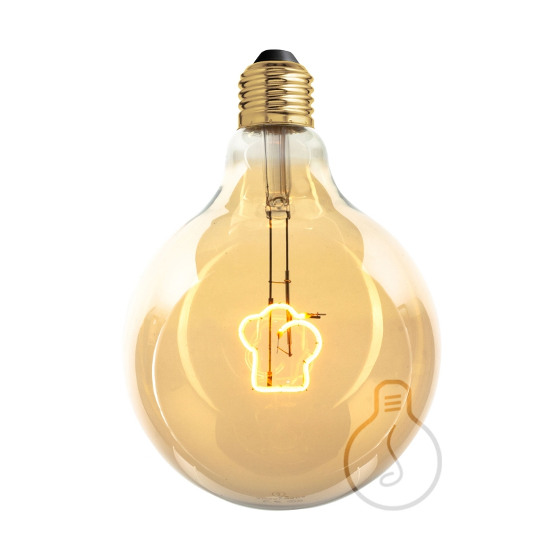 LED Light Bulb Globe G125 Masterchef line Toque Blanche Filament 4W E27 Dimmable 2000K