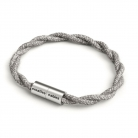 Bracelet with Matt silver magnetic clasp and TN02 cable
