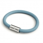 Bracelet with Matt silver magnetic clasp and RC53 cable