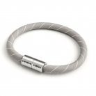 Bracelet with Matt silver magnetic clasp and ERD22 cable