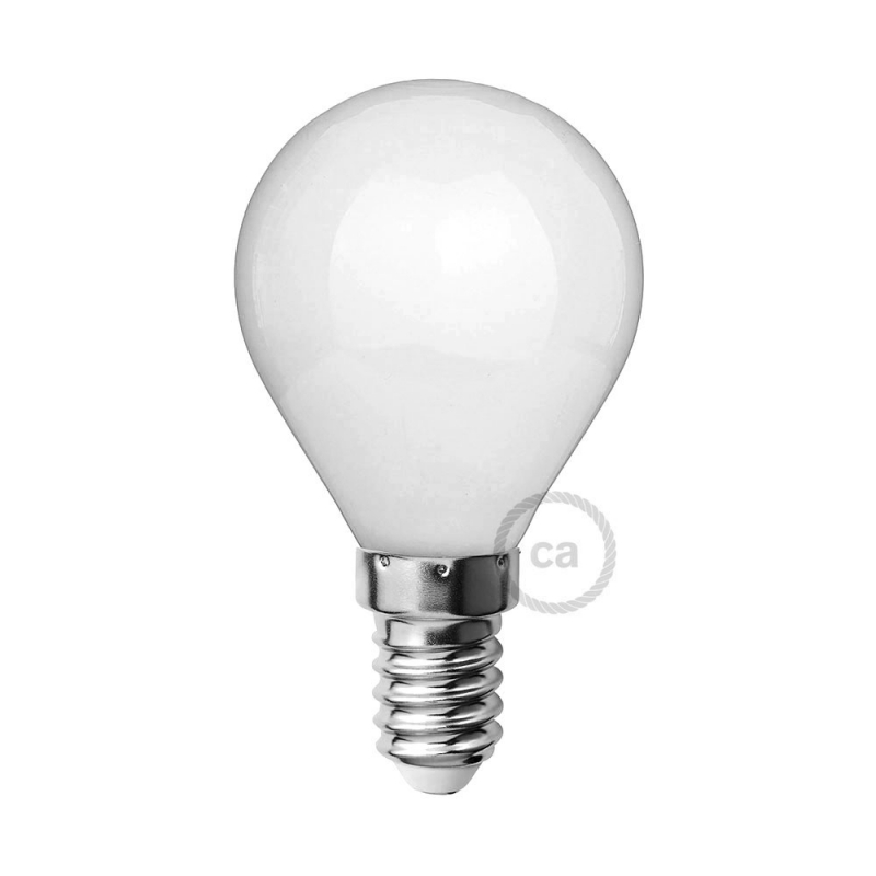 LED Milky White Light Bulb - Miniglobe G45 - 4W E14 Dimmable 2700K