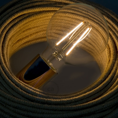 LED Transparent Light Bulb - Globe G95 Long Filament 4W Decorative Vintage 2200K