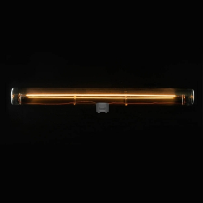 S14d LED tube linear line smoky grey light bulb - 300 mm lenght 8W 2200K dimmable - for Syntax