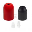Rounded painted metal E27 lamp holder kit