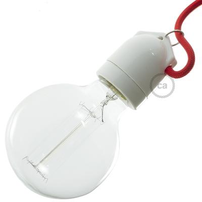 Double entry porcelain E27 lamp holder kit