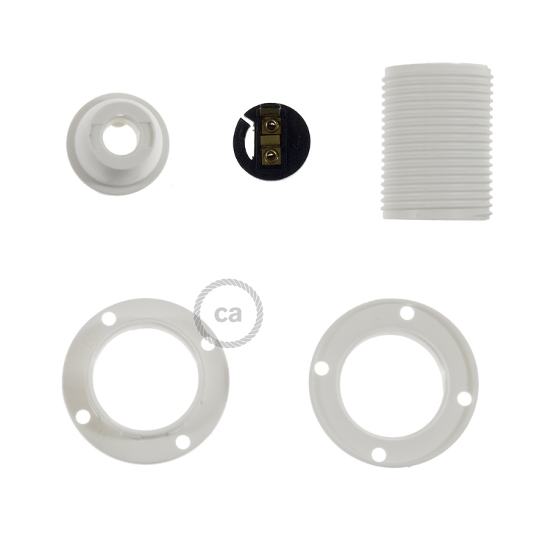 Thermoplastic E14 lamp holder kit for lampshade