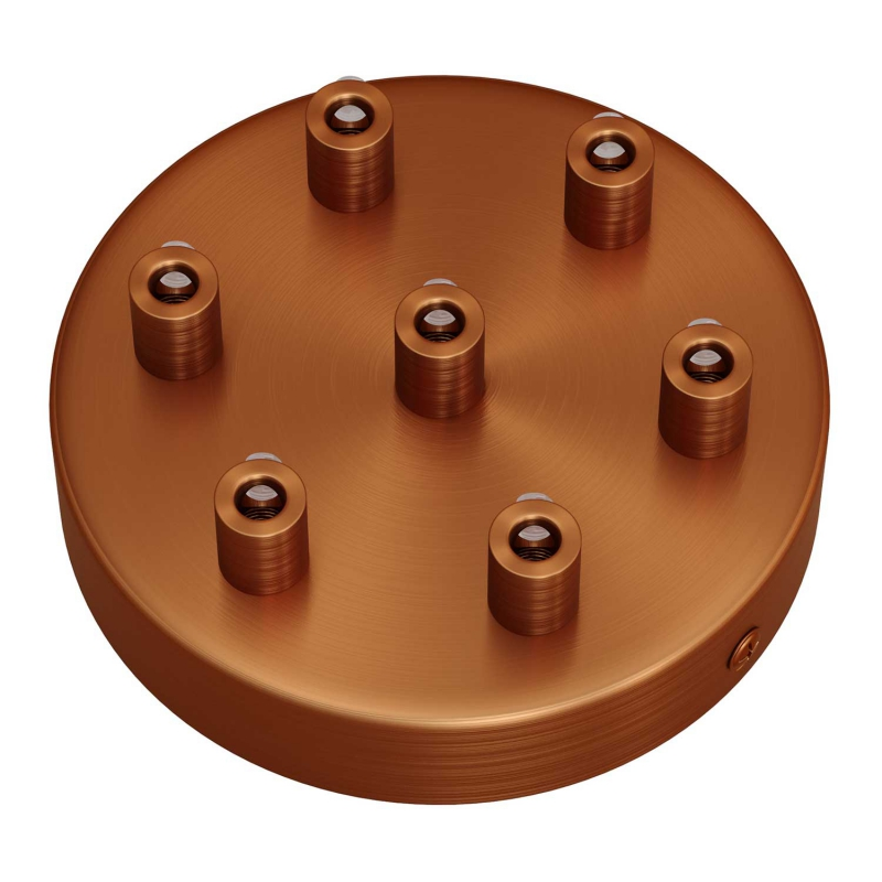 Cylindrical metal 7-hole ceiling rose kit