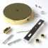 Cylindrical metal 1 central hole + 2 side holes ceiling rose kit