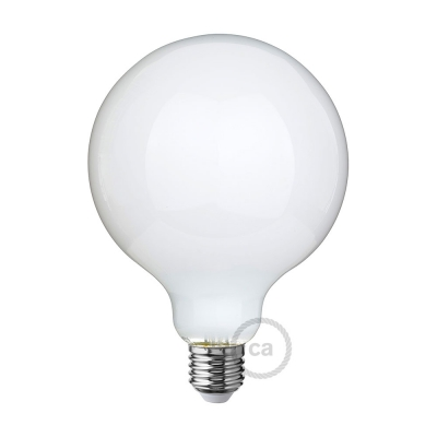 LED Milky White Light Bulb - Globe G125 - 7.5W E27 Dimmable 2700K