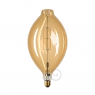 XXL LED Golden Light Bulb - Bulged Tubular BT180 - 11W E27 Dimmable 2000K