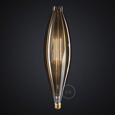 XXL LED Golden Light Bulb - Bulged Tubular BT120 - 11W E27 Dimmable 2000K