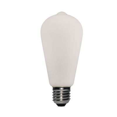 Led Porcelain Light Bulb ST64 6W E27 Dimmable 2700K