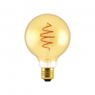 LED Bulb Globe G95 Golden Croissant Line with Spiral Filament 5W E27 Dimmable 2000K