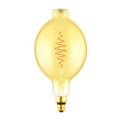 LED XXL Bulb Bulged Tubolar BT180 Golden Croissant Line with Spiral Filament 8.5W E27 Dimmable 2000K