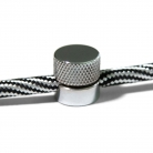 Sarè - Metal wall fairlead fixing for textile cable - Chrome