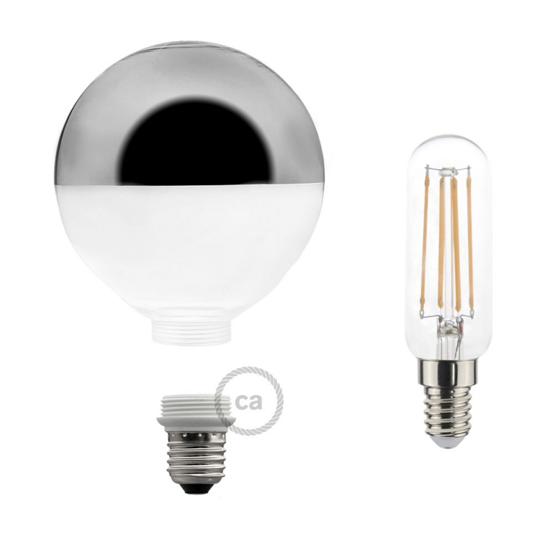 Modular LED Decorative Light bulb with Silver Semisphere 5W E27 Dimmable 2700K
