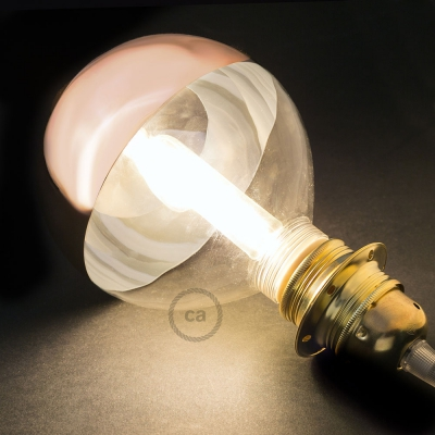 Modular LED Decorative Light bulb with Copper Semisphere 5W E27 Dimmable 2700K
