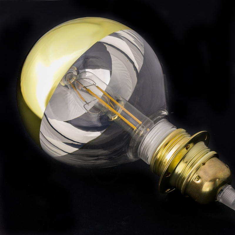 Modular LED Decorative Light bulb with Gold Semisphere 5W E27 Dimmable 2700K