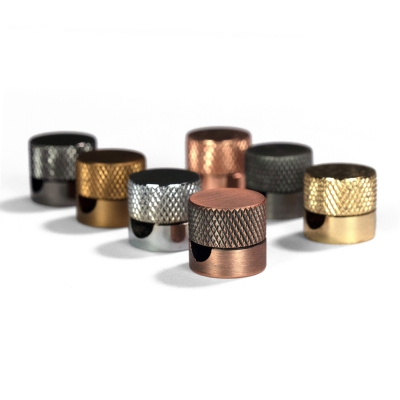 Sarè - Metal wall fairlead fixing for textile cable - Brushed copper