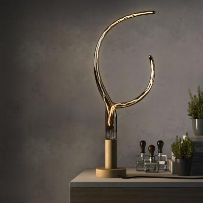 LED Smoky Grey Light Bulb - Double Horn Artistic Filament - 6W E27 Dimmable 2200K