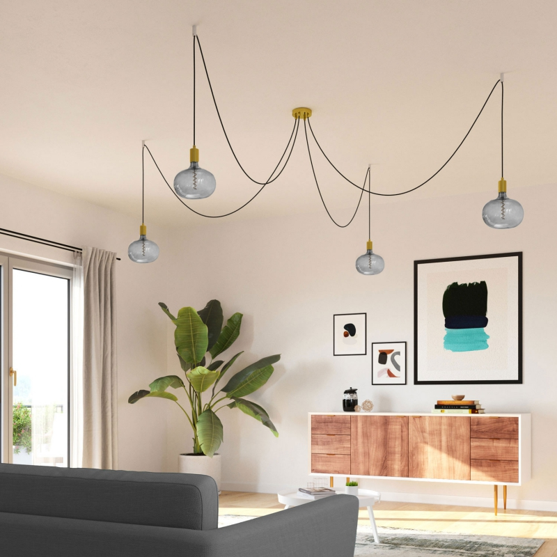 Cobble Grey LED XXL bulb, Pastel line, Spiral filament 4W E27 Dimmable 2100K