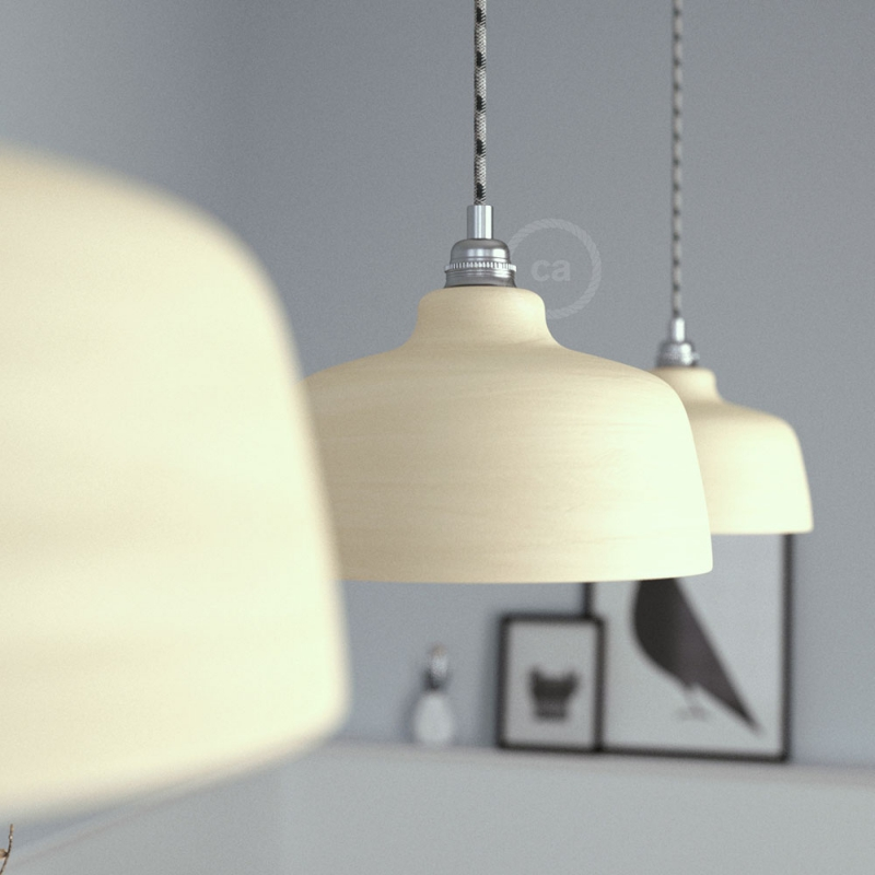 Ceramic lampshade Cup, Materia collection - Made in Italy