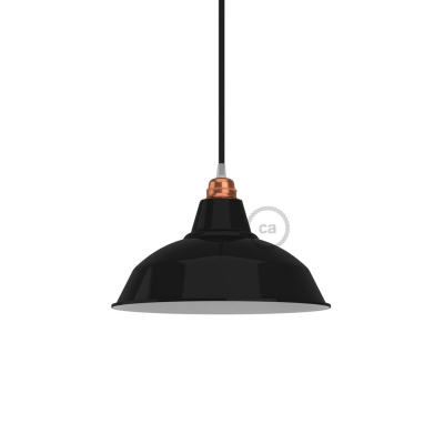Bistrot lampshade in polished metal with E27 fitting, 30 cm diameter