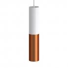 Tub-E14, spotlight double metal tube, with double E-14 lamp holder ring