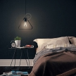 Pendant lamp with textile cable, Duedì Apex lampshade and metal details - Made in Italy