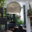 Pendant lamp with textile cable, Dome M lampshade in polyester fiber and metal details