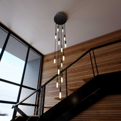 Made in Italy suspension with 15 pendants complete with P-Light, and 400 mm Rose-One ceiling rose