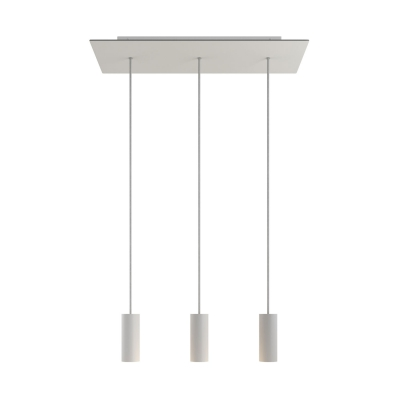 3-light pendant lamp with 675 mm rectangular XXL Rose-One, featuring fabric cable and metal Tub-E14 lampshade