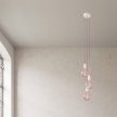 3-light multi-pendant lamp featuring fabric cable and metal finishes