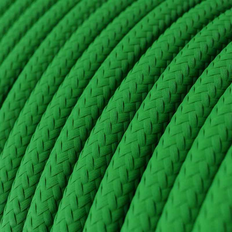 RM06 Green Round Rayon Electrical Fabric Cloth Cord Cable