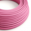RM08 Fuchsia Round Rayon Electrical Fabric Cloth Cord Cable