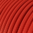 RM09 Red Round Rayon Electrical Fabric Cloth Cord Cable