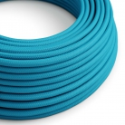 RM11 Turquoise Round Rayon Electrical Fabric Cloth Cord Cable