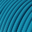 RM11 Cyan Round Rayon Electrical Fabric Cloth Cord Cable