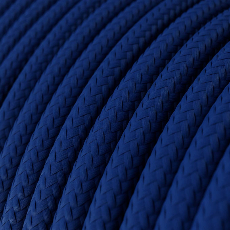 RM12 Blue Round Rayon Electrical Fabric Cloth Cord Cable
