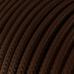 RM13 Brown Round Rayon Electrical Fabric Cloth Cord Cable
