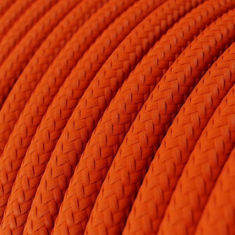 RM15 Orange Round Rayon Electrical Fabric Cloth Cord Cable