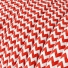 RZ09 Red Zig Zag Round Rayon Electrical Fabric Cloth Cord Cable