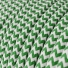 RZ06 Green ZigZag Round Rayon Electrical Fabric Cloth Cord Cable