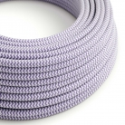 RZ07 Lilac ZigZag Round Rayon Electrical Fabric Cloth Cord Cable