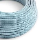 RZ11 Turquoise ZigZag Round Rayon Electrical Fabric Cloth Cord Cable