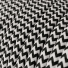 RZ04 Black ZigZag Round Rayon Electrical Fabric Cloth Cord Cable