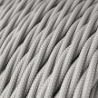 TM02 Silver Twisted Rayon Electrical Fabric Cloth Cord Cable