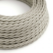 TM00 Ivory Twisted Rayon Electrical Fabric Cloth Cord Cable